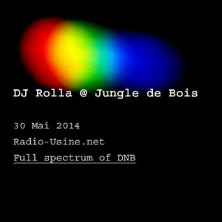 "DJ Rolla @ ""Jungle de bois"" sur Radio Usine - 30.05.2014 - new tunes, very full spectrum of dnb"