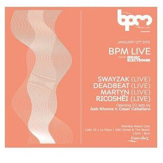 Swayzak - Live @ The BPM Festival 2015, Mamita's (Mexico) - 12.01.2015