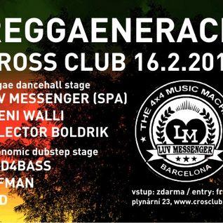 16/02/2012 - REGGAENERACE @ Cross Club (Prague) - Boldrik ls. Peeni Walli - dubplate juggling part 1
