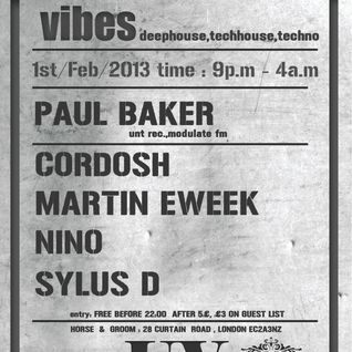Martin Eweek @ Underground Vibes Party 1st February 2013