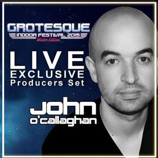 John O'Callaghan LIVE @ Grotesque Indoor Festival Utrecht Winter Edition