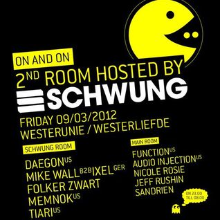Daegon Live @ SCHWUNG stage __ ON and ON 09-03-2012 Westerunie, Amsterdam