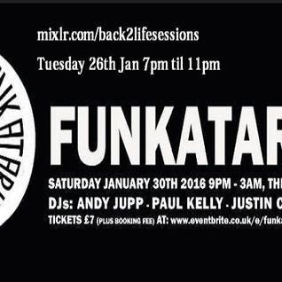 B2LS - Funkatarium PROMO radio show with Cookee, Juppy and Paul Kelly Live from London, 26-01-16