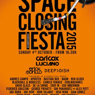 Carl Cox - live at Space Closing Fiesta 2015, Open Air Stage, Space, Ibiza - 04-Oct-2015