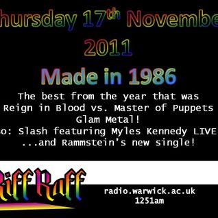 Riff Raff #6 - 17/11/11