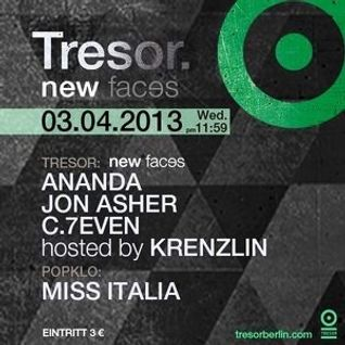 C.7even @ New Faces - Tresor Berlin - 03.04.2013
