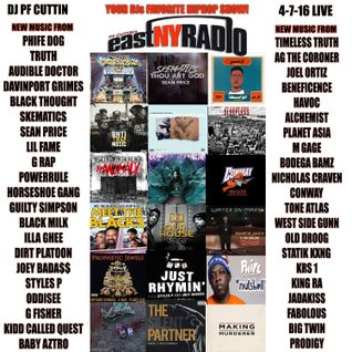 EastNYRadio PF CUTTIN all NEW Hiphop 4-7-16