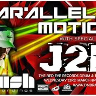 J2B  -The red eye records show  - guest mix for Parallel motion on dnbradio.co