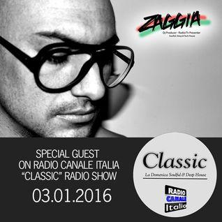 ▶ ZAGGIA ◀ RADIO CANALE ITALIA - CLASSIC Radio Show - 03.01.16 FREE DOWNLOAD