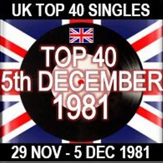 UK TOP 40: 29 NOV- 5 DEC 1981
