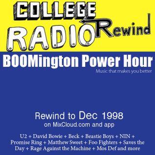 Dec 1998 - College Radio Rewind - David Bowie, Matthew Sweet, Beastie Boys, Beck, U2, NIN hella more