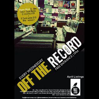 Off The Record - 11th April 2012 - Martin Daniels