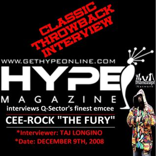 "HYPE MAGAZINE's exclusive interview with Queens rap veteran CEE-ROCK ""THE FURY"" [12-09-08]"