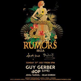 DOP (live) - Live at RUMORS, Destino Ibiza (31-07-2016)