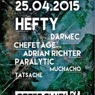 Chefetage Liveact @ Dstrct X Gotec Club Karlsruhe 25.04.2015