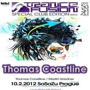 10.02.2012 - Thomas Coastline Live @ Trancefusion Special Club Edition - SasaZu Prague