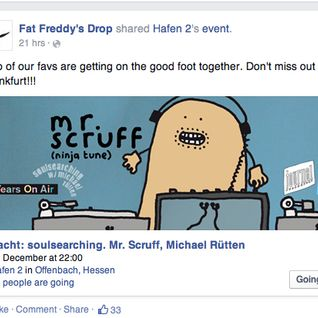 17 years soulsearching celebrations - mr scruff and mr ruetten on the decks 12.12.14 Part 1