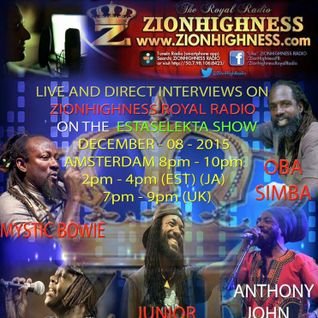 The Estaselekta Show with Junior Kelly, Oba Simba, Mystic Bowie, Anthony John and Dubvocaliza dec 8