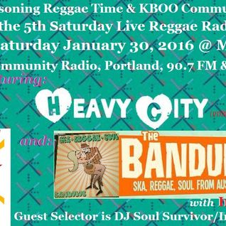 Higher Reasoning Reggae Time 5th Saturday Special LIVE Reggae Event: 1.31.16 (12-3 am)
