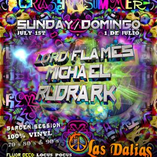 Lord Flames ⊙Suntrip Records @ Crazy Summer @Las Dalias #IBIZA # 01-07-12