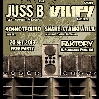 Vilify (CA) @ Mais Baixo - 20/09/13 - Faktory Club