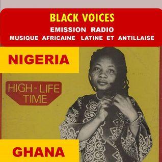 emission de BLACK VOICES spéciale NIGERIA GHANA HIGHLIFE années 70  sur RADIO DECIBEL DANS LE LOT