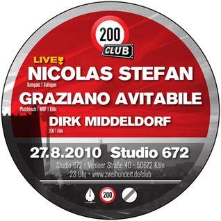 Nicolas Stefan Live @ 200 Club, August 28, 2010, 200 Club, Studio 672, Cologne