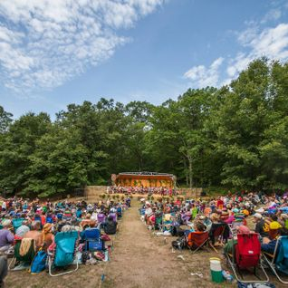 Drumsong Orchestra 2015, 40th Michigan Womyns Music Festival, Sunday morning