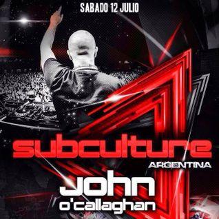 John O'Callaghan – Live @ Subculture, Mandarine Park Buenos Aires, Argentina – 12-JUL-2014