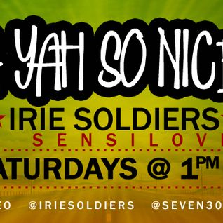 """A YAH SO N!CE"" IRIE SOLDIERS Radio MixShow #43/2013 - FRESH DANCEHALL SEGMENT June13(DjSensilover)"