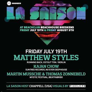 Martin Mussche & Thomas Zonnebeld @ La Saison - Beachhouse 25   July 19 2013