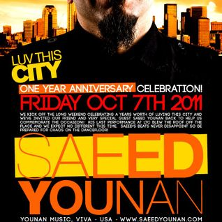 2nd hr - Saeed Younan Live @ LUV THIS CITY - 1 Year Anv.