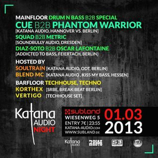 Korthex - Tech House Set - Katana Audio Night @ SUBLAND 01.03.2013