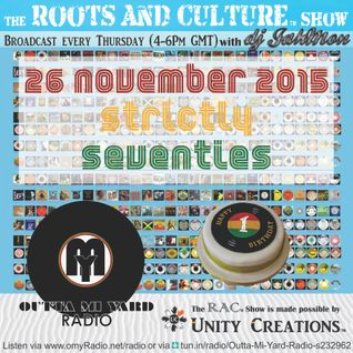 1st anniversary of the Roots & Culture show with nothing but Seventies Roots Reggae