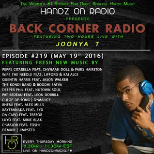 BACK CORNER RADIO: Episode #219 (May 19th 2016)