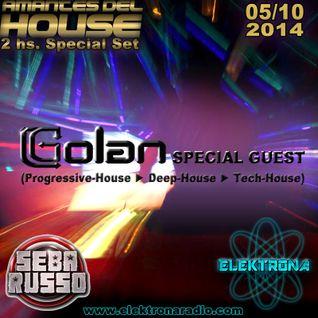 DJ Golan Special Guest ELEKTRONA Radio 05-10-2014 (Progressive-House & Deep-House & Tech-House)