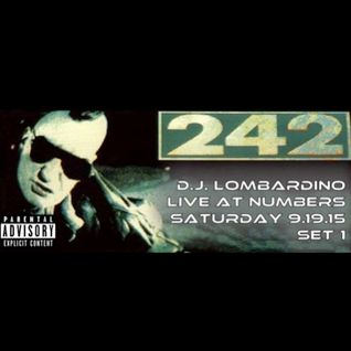DJ Lombardino for Front 242LIVE at Numbers Nightclub in Houston 9.19.15 - Set 1