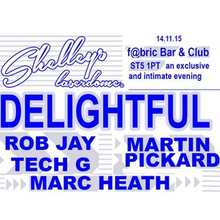 "rob jay -  live  ""delightful @ fabric"" , stoke ,  14-11-15"