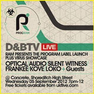 Program Label Launch & Virus Showcase - 02 - Optical vs. Audio @ Concrete Space - London (06.09.12)