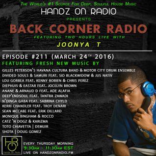 BACK CORNER RADIO: Episode #211 (March 24th 2016)
