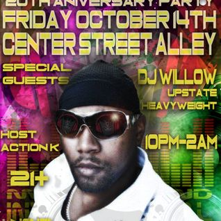 Dj Mega - 20th Anniversary party live at Center St Alley - Oct 14th - Dj Willow, R.t.K