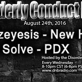 Mizeyesis guest mix for Disorderly Conduct on DNBRadio.com  8.24.16 (Download link included)