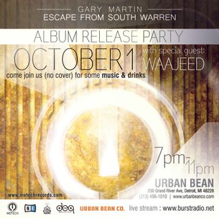 Motech Presents Gary Martin live @Urban Bean Detroit 10-01-2015