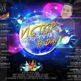 DJ NOGUEDA LIVE SET IN VICTOR CERVANTES BDAY PARTY 2013