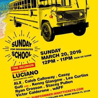 Luciano @ Sunday School at The Surfcomber Miami 20-03-2016
