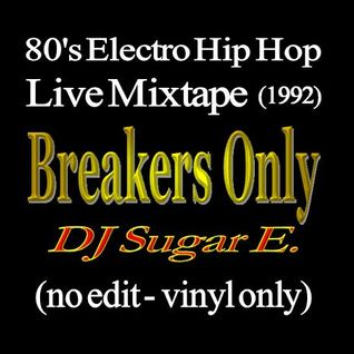 80's Electro Hip Hop - Live Mixtape 45min (no edit, vinyl only) - DJ Sugar E.