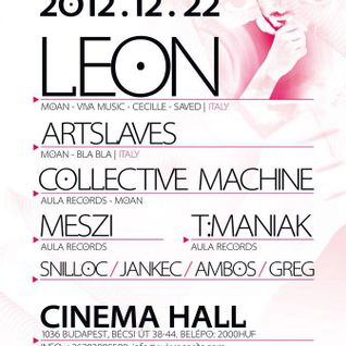 Collective Machine - Live @ Cinema Hall Budapest Aula & Moan Labels Showcase 2012.12.22.