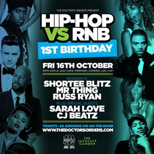 Hip Hop vs R&B 1st Birthday: Mixed By Russ Ryan (@MrRussRyan)