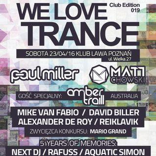 Next DJ live @ We Love Trance CE 019 (Lawa Club Poznan 23-04-16)