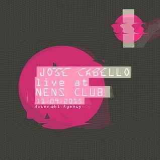 Jose Cabello (Live) @ Amnesia (NENS) 11092015